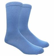 FineFit Plain Dress Socks - Light Blue - 1 Dozen