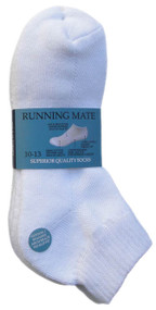 Running Mate Quarter Socks - White (SR208W) - 1 Dozen