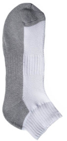 Running Mate Quarter Socks - White/Gray (SR208WG) - 1 Dozen