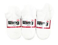 Wing Sports Low-Cut Socks - White (Size: 6-8) - 1 dozen