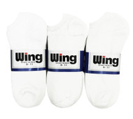 Wing Sports Low-Cut Socks - White (Size: 9-11) - 1 dozen