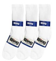 Wing Crew Sport Socks - White (Size: 9-11) - 1 dozen