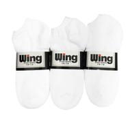 Wing Sports Low-Cut Socks - White (Size: 10-13) - 1 dozen