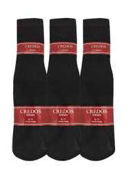 Credos Tube Socks - Black (Size: 9-11) - 1 Dozen
