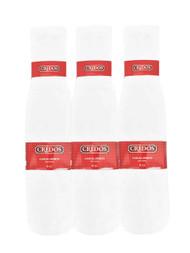 Credos Tube Socks - White (Size: 9-11) - 1 Dozen