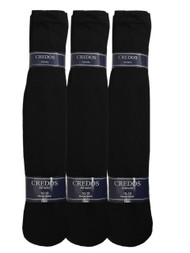 Credos Tube Socks - Black (Size: 10-13) - 1 Dozen