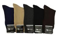 Focus Men's Dress Socks - Assorted Plain (Size: 9-11, 10-13) - 1 Dozen