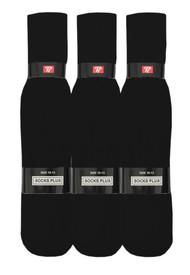 Socks Plus Tube Socks - Black (Size: 10-13, 13-15) - 1 Dozen