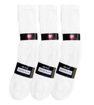 Socks Plus Crew Socks - White (Size: 10-13) - 1 Dozen