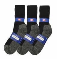 Socks Plus Crew Socks - Black/Charcoal Bottom (Size: 9-11) - 1 Dozen