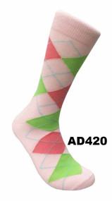 FineFit Argyle Dress Socks (AD420) - 1 Dozen