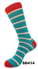 FineFit Stripe Dress Socks (SD414) - 1 Dozen
