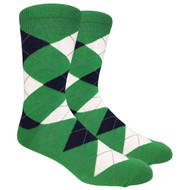 FineFit Black - Green Argyle (ADB007) - 1 Dozen