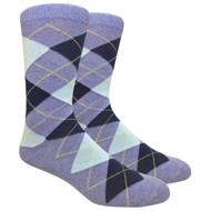 FineFit Black - Heather Blue Argyle (ADB011) - 1 Dozen