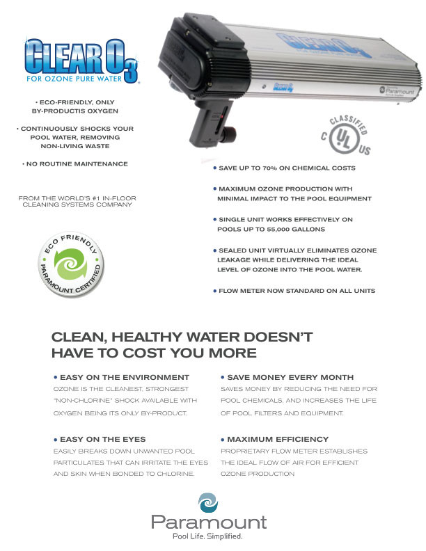 Buy Paramount Clear O3 Ozone System