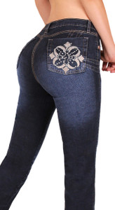 Jeans push up levanta cola estilo colombiano marca  Zenzo