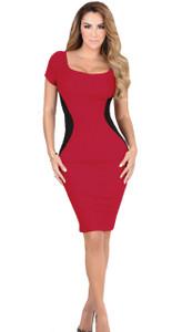 Vestido Fino Rojo Danesi de Ninel Conde- Esbelta Delgada y Curvilinea