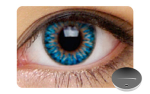Color Contact Lenses-Dajavu Aqua Blue