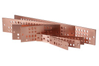 "Standard 4"" Solid Copper Bus Bars with Grounding Hardware Kit"