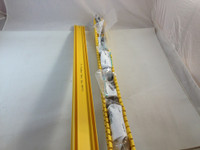 2X2 HINGED VERTICAL CABLE MANAGER KIT YELLOW