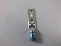 "2 HOLE LUG STRAIGHT STD BARREL 6 AWG #10 BOLT 5/8"" SP BLUE"