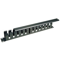 19 inch 1U Cable Management, 12 Slots, Metal