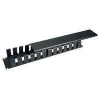 19 inch 2U Cable Management, 12 Slots, Metal