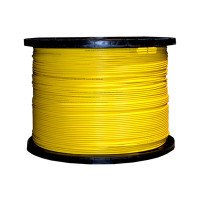 Indoor Distribution Fiber Optic Cable, 9/125um, Singlemode, Simplex, Yellow, OFNR, 1000' Spool