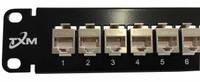 "JPM804A-R2 Equiv CAT5e 24-Port High-Density Patch Panel 1RU 19"" Shielded Feed Through"