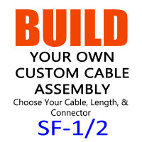 "1/2"" STANDARD FLEX 50 OHM COAX CABLE ASSEMBLIES - EQUIVALENT TO LDF4-50A"