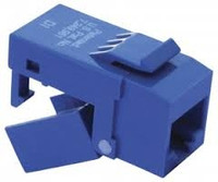 Platinum Tools 706BL-4C EZ-SnapJack Cat6, Blue.  4/Clamshell.