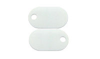 "Burndy 145PTAG  White Nylon Tag 94V0 Rated Plastic 1""x1-3/4""x.060 Thickness"