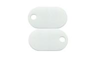 "Burndy 145PTAG  White Nylon Tag 94V0 Rated Plastic 1""x1-3/4""x.060 Thickness"