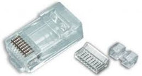 Platinum Tools 106177C RJ45 (8P8C) Cat6 HP, Round-Solid 3-Prong.  25/Clamshell.
