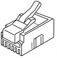 Platinum Tools 106122C RJ-11 (6P4C), Round-Solid 3 Prong.  25/Clamshell.