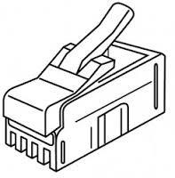 Platinum Tools 106102C RJ-22 (4P4C), Flat-Stranded.  25/Clamshell.
