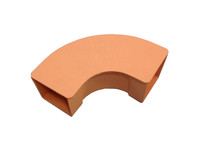 "Alcatel-Lucent 105763742 90 Degree Top Elbow Fiber Duct 2"" TECR-2X2ORN (Orange)"