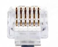 Platinum Tools 100026LTC EZ-RJ12/11 Long Tab Connector.  50/Clamshell.