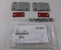 "Telect 02117-01I 1RU Adapter Kit 19""-23"" EIA MTG w/ Isolation Pad (TE Gray)"