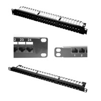 CAT6 UTP 24-PORT HD PATCH PANEL, RJ45/110 IDC, 0.5RU