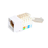 CAT5E TOOLESS KEYSTONE JACKS, 8P8C, WHITE, UL