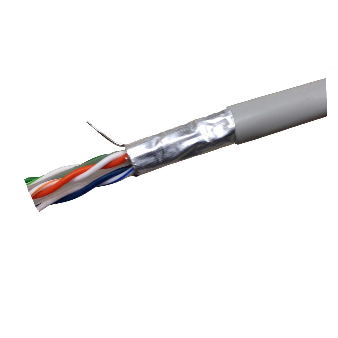 CAT6 STP CMP Solid Shielded Plenum 4PR 1000' Box