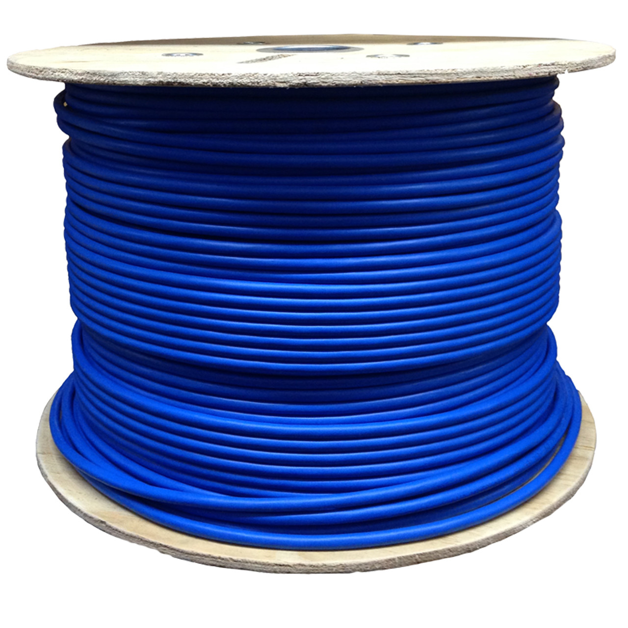 Cat6A Solid 1000' FTP CMR UL/ETL & TAA Compliant Shielded Cable- Blue