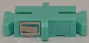 SC Simplex Aqua Multimode 10Gb OM3 Coupler with flange