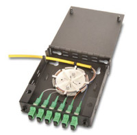 FP-W01-6-SMSCA1-SP-3M Wall Mount Fiber Panel Loaded with 6 SM SCA Simplex with Fiber Spool and 3M Pigtail