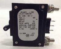 LELK1-1REC4-51-10001V  100 Amp Circuite Breaker Bolt In Term Black Handle 3 Pins