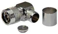 Type N Male Right Angle Connector For LMR600/LOW600 cables - Crimp Connector with Solder Pin