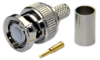 BNC Male Connector for RG58/RG142/RG223/RG400/LMR195/LOW195 cables - Crimp Connector with Solder Pin