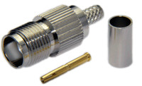 TNC Female Connector For RG8U/RG213/LMR400/LMR400UF/LOW400 - Crimp Connector with Solder Pin