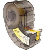 XSL-31-427-YL-BK   IDXPERT® Label Cartridge Self-Laminating Vinyl Black on Yellow 250/Cartridge